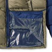 Columbia Pike Lake Hooded Jacket in Grey and Navy