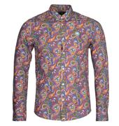 Slim Fit Paisley Print Vintage Shirt in Multicoloured
