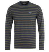 Matelot Long Sleeve Navy T-Shirt in Green and Navy