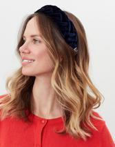 Isabelle Braided Headband in Navy