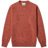 Jamieson's of Shetland Crew Knit in Orange