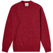 Jamieson's of Shetland Crew Knit in Red