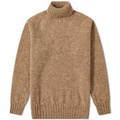 Jamieson's of Shetland Roll Neck Knit in Neutral