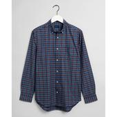 Regular Fit Tech Prep™ Indigo Check Oxford Shirt in Red and Blue
