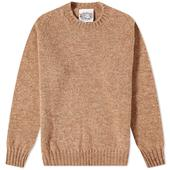 Jamieson's of Shetland Crew Knit in Neutral