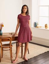 Amelie Jersey Dress in Red