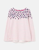 Harbour Long Sleeve Jersey Top in Pink