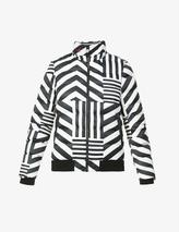 Star Dazzle shell-down jacket in Black and White