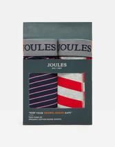 Crown Joules Boxers 2 Pack in Red, Grey and Navy