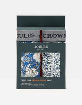 Crown Joules Boxers 2 Pack in White and Blue