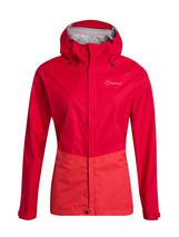 Women's Deluge Vented Waterproof Jacket in Red
