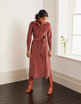 Judith Cord Shirt Dress in Red