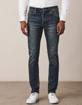 Spencer Slim Leg Jean In Antique in Blue
