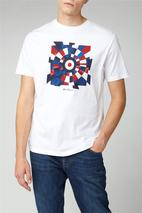 Fractured Target Tee in White