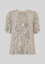 Seema Sequin Top in Metallic
