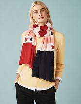 Lightweight Printed Scarf in Multicoloured