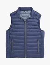 Feather & Down Padded Gilet with Stormwear™ in Navy