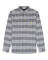 Archive Brushed Check Shirt in Grey