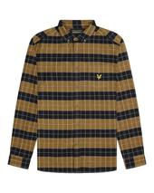 Archive Brushed Check Shirt in Neutral and Navy