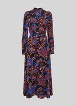 Ruby Trailing Bloom Dress in Multicoloured and Black
