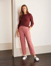 Rothes Seam Detail Trousers in Pink