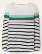 Long Sleeve Breton in Multicoloured and Black