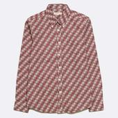 Mod Button Down Long Sleeve Shirt in Red