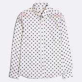 Mod Button Down Long Sleeve Shirt in White