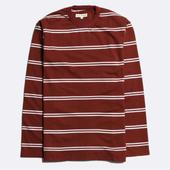 French Terry Long Sleeve T-Shirt in Red