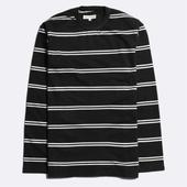 French Terry Long Sleeve T-Shirt in Navy