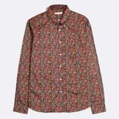 Mod Button Down Long Sleeve Shirt in Multicoloured