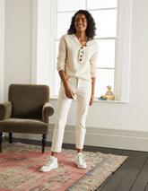 Slim Straight Ankle Skimmers in Neutral