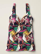 Talamanca Tankini Top in Multicoloured and Navy
