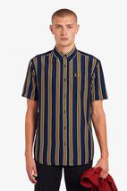 Vertical Stripe Shirt in Navy