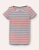 Short Sleeve Breton in Multicoloured and Neutral
