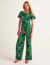 Camille Ponte Jumpsuit in Green