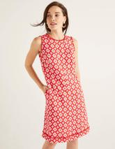 Romaine Linen Dress in Red