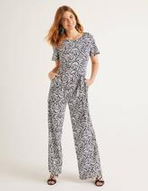 Camille Ponte Jumpsuit in Navy