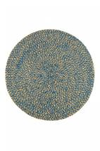 Woven Jute Placemat 38cm in Blue