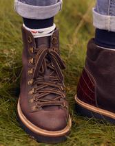 Montrose Lace Up Hiker Boots in Brown