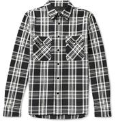Jack Checked Cotton-Twill Shirt Jacket in Black