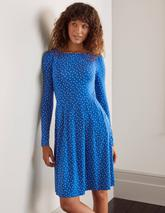 Francesca Jersey Dress in Blue