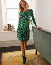 Francesca Jersey Dress in Green