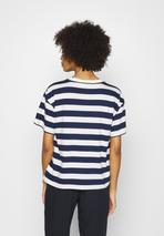 EASY TEE - Print T-shirt in White and Navy