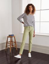Slim Straight Ankle Skimmers in Green