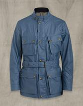 Trialmaster Waxed Cotton Jacket in Blue