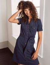 Cecily Shirt Dress in Navy