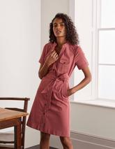 Cecily Shirt Dress in Pink