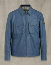Dunstall Waxed Cotton Jacket in Blue
