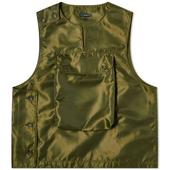Engineered Garments Cover Vest in Green
